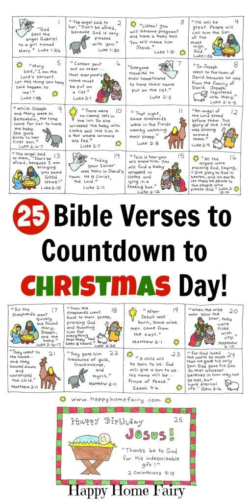 Bible verse countdown to Christmas