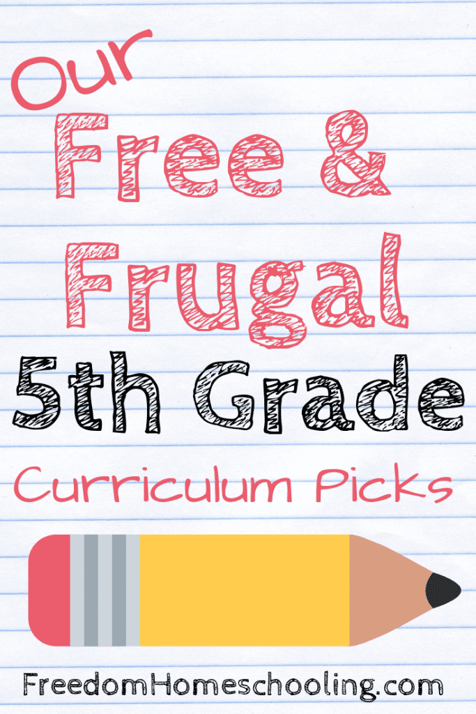 Free and frugal 5th grade curriculum
