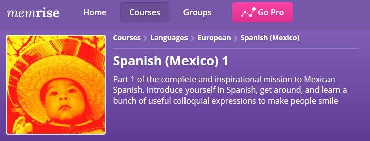 Memrise Spanish