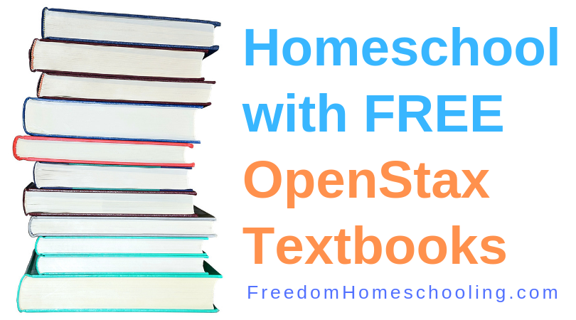 Homeschool for free with OpenStax textbooks