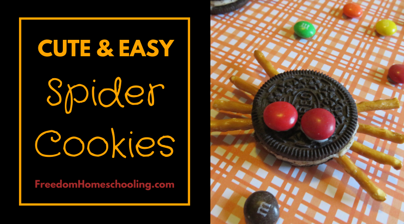 Cute & Easy Spider Cookies