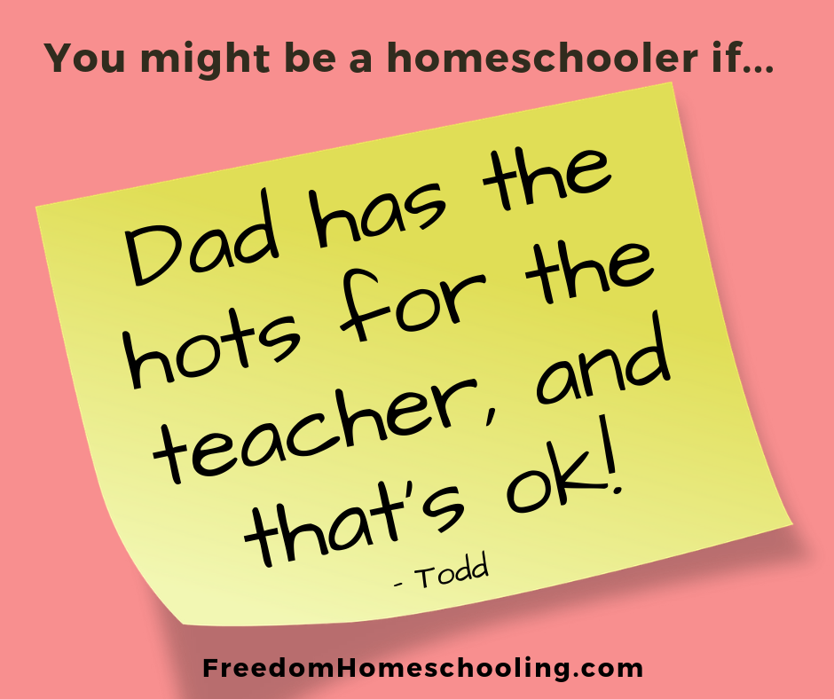 Dad has hots for teacher