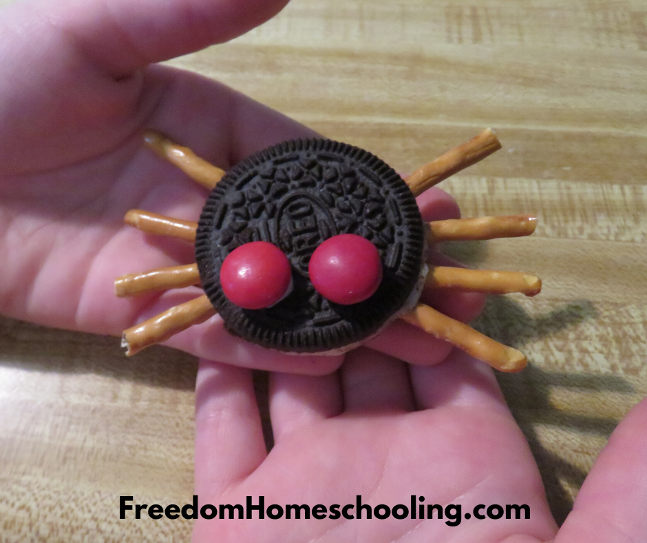 finished spider cookie