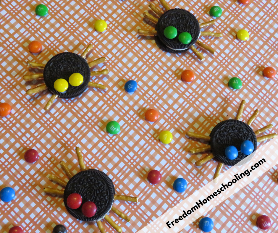 finished spider cookies