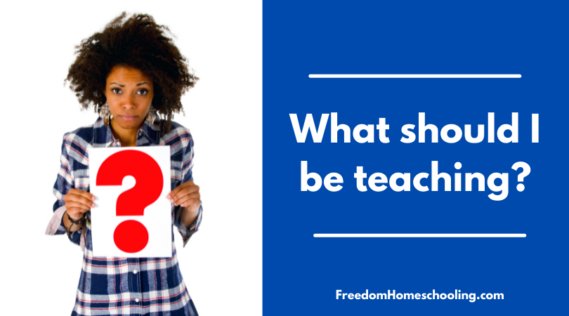 What should I be teaching?