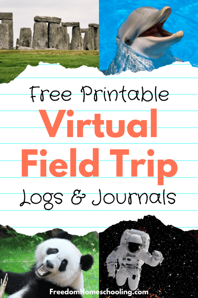 free printable virtual field trip journals