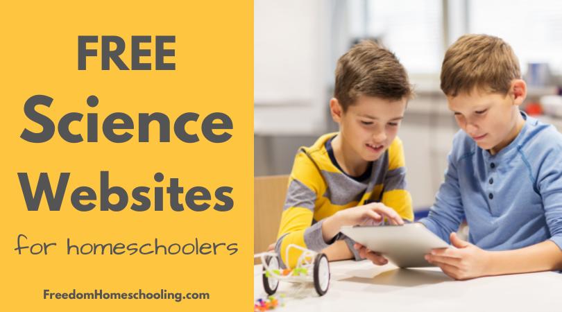 Science Websites for Homeschoolers