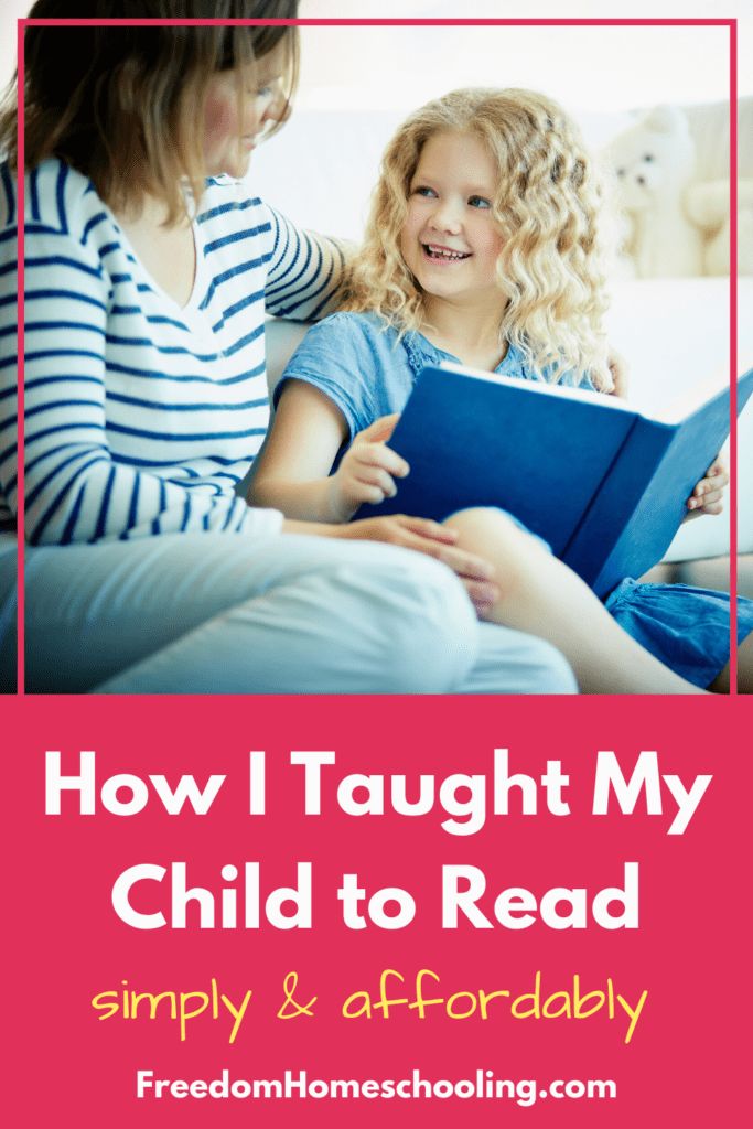 How I Taught My Child to Read