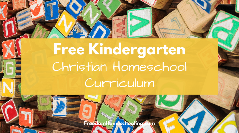 Free Kindergarten Christian Homeschool Curriculum