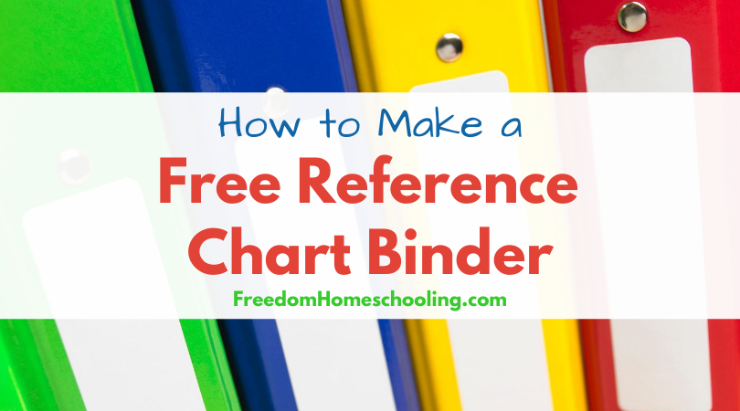 How to Make a Free Reference Chart Binder