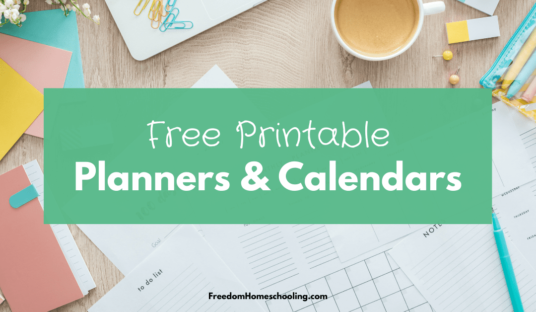 Free Planners and Calendars