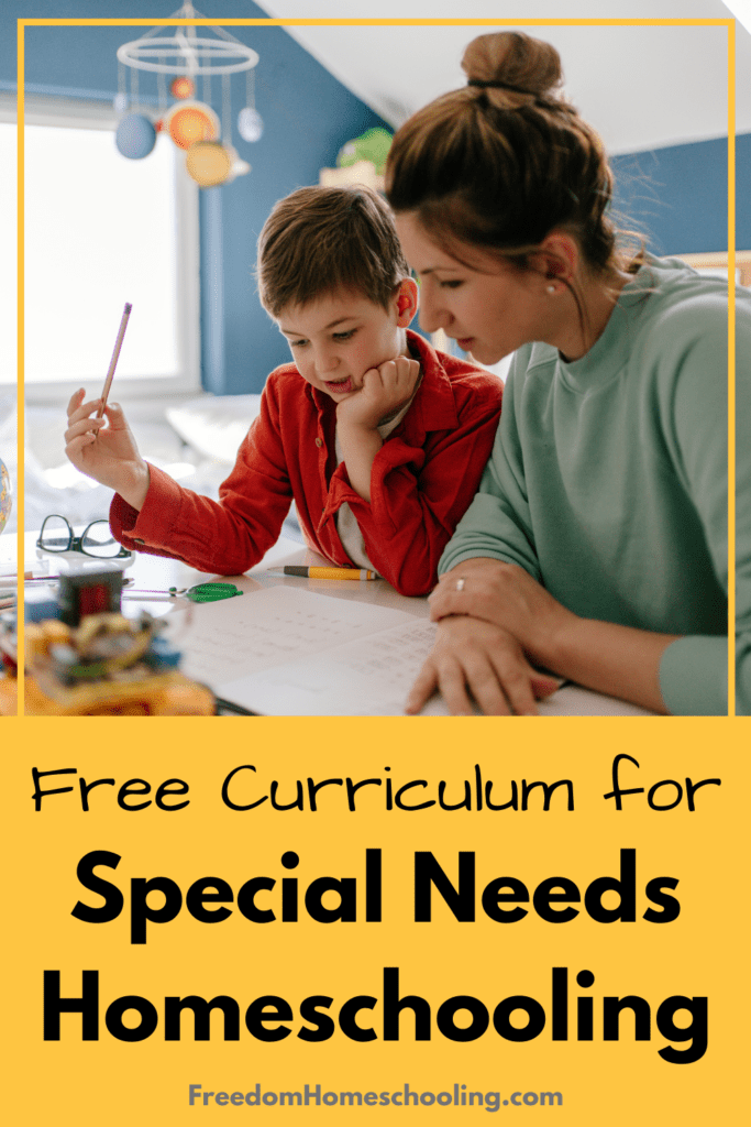 Free Curriculum for Special Needs Homeschooling