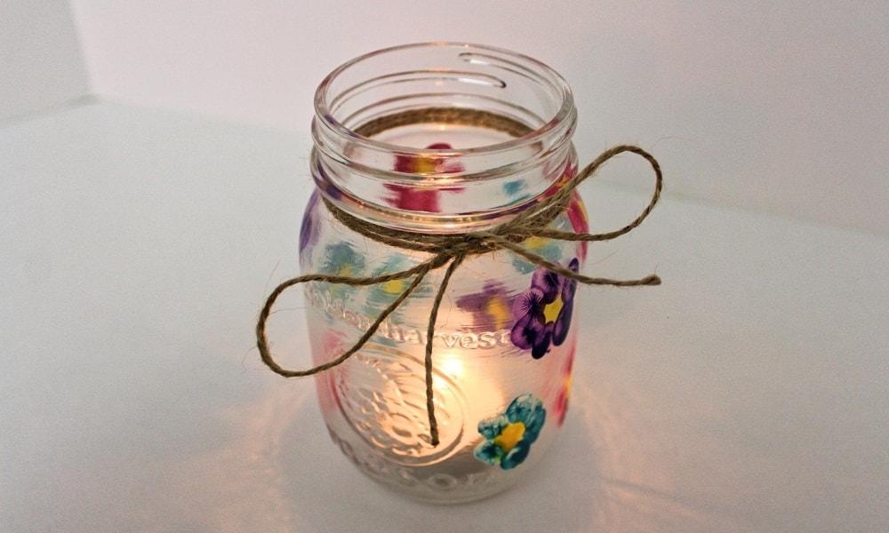 Thumbprint Flower Candle Holder