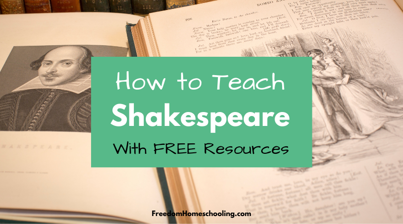 Teaching Shakespeare With Free Resources